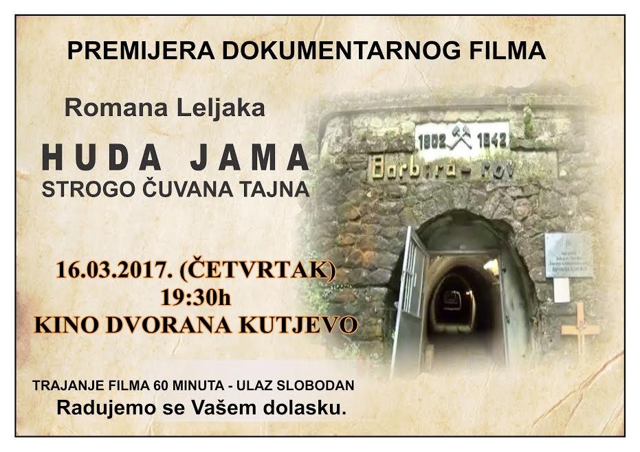 """Film """"Huda Jama"""" u kino dvorani u Kutjevu"""