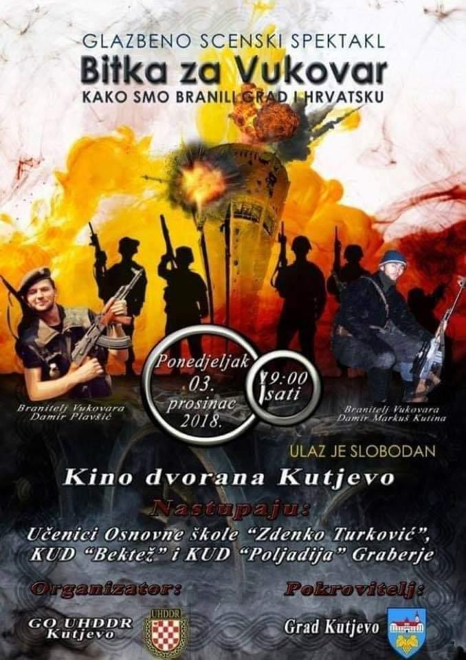 """Glazbeno scenski spektakl """"Bitka za Vukovar"""""""