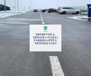 Prometnica, pješačka staza i parkiralište u Vrtićkoj ulici