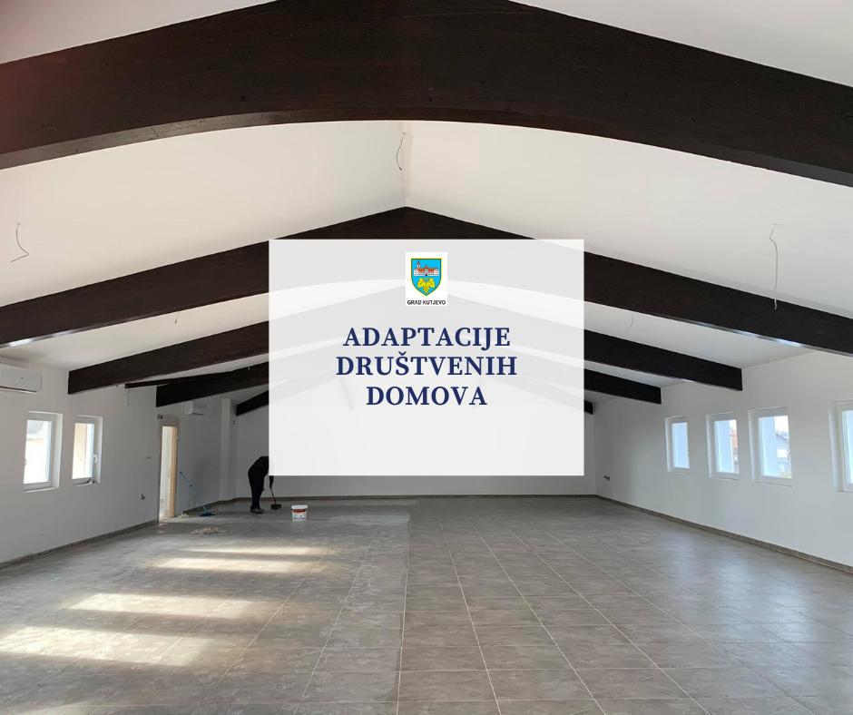 Adaptacija društvenog doma u Hrnjevcu, Lukaču i Vetovu
