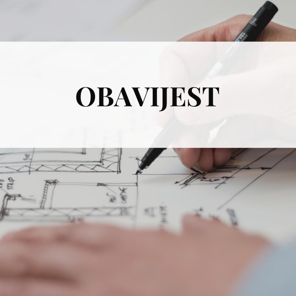 Obavijest o IV. izmjenama i dopunama Prostornog plana uređenja Grada Kutjeva